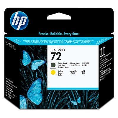 HP #72 Matte Black/Yellow PH