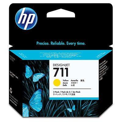 HP DesignJet T120 / T520 Supplies - Ink, 3pk, Ink-Yellow